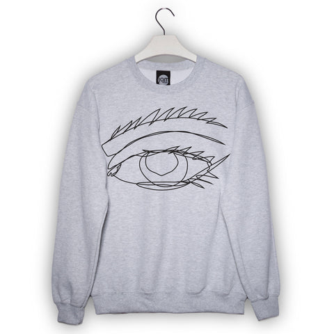 Eye On You Sweater in Grey