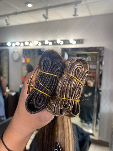 machine weft for thick hair extensions
