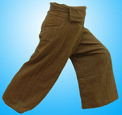 Thai Fisherman Yoga Massage 3/4 Pants BROWN