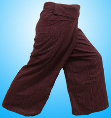 Thai Fisherman Yoga Massage 3/4 Pants BURGUNDY