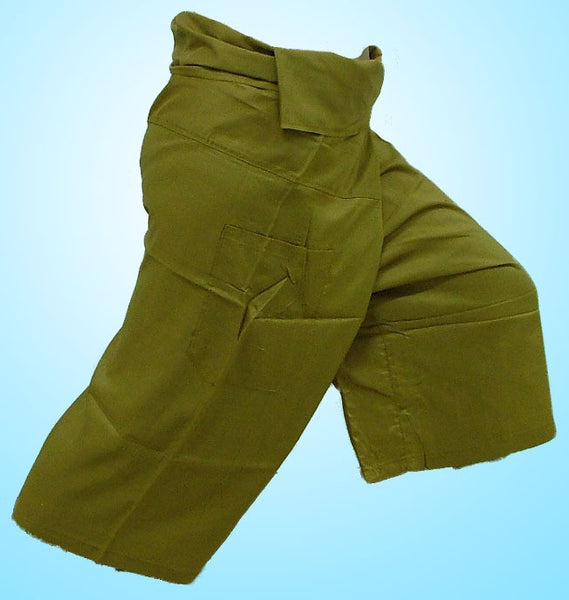 Thai Fisherman Yoga Massage 3/4 Pants OLIVE