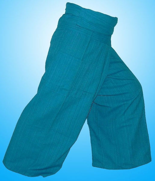 Thai Fisherman Yoga Massage 3/4 Pants BLUE