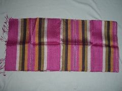 100% Fair Trade Laos Silk Wrap Scarf Shawl Pink