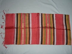 100% Fair Trade Laos Silk Wrap Scarf Shawl Red