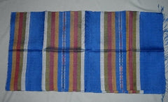 100% Fair Trade Laos Silk Wrap Scarf Shawl Blue