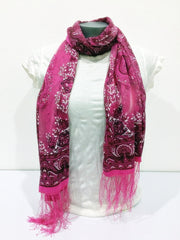 Lovely Hand Made Thai Floral Scarf Shawl Rose