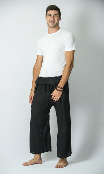 Thai Fisherman Yoga Massage Pants Black