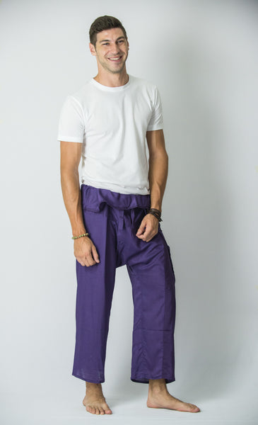 Thai Fisherman Yoga Massage Pants Grape