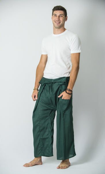 Thai Fisherman Yoga Massage Pants Green