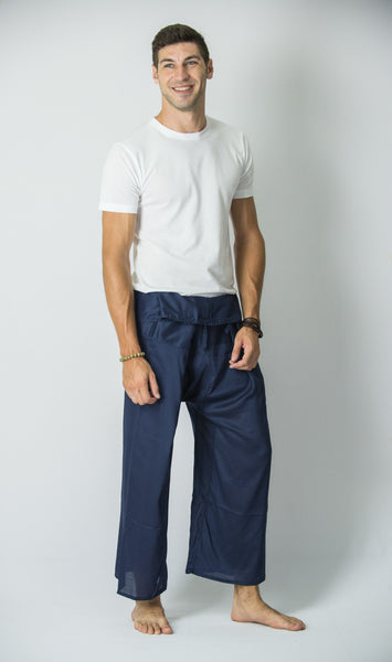 Thai Fisherman Yoga Massage Pants Blue Steel