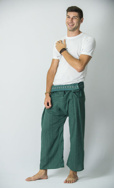 Cotton Thai Fisherman Yoga Massage Pants Aqua Marine