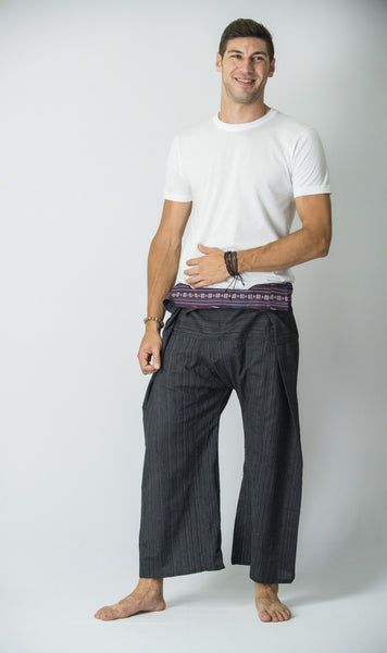 Cotton Thai Fisherman Yoga Massage Pants Black