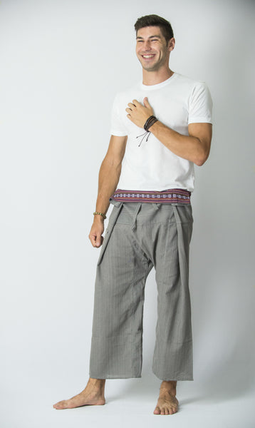 Cotton Thai Fisherman Yoga Massage Pants Grey