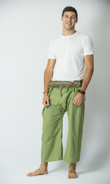 Cotton Thai Fisherman Yoga Massage Pants Lime