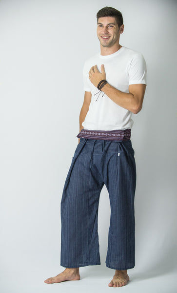 Cotton Thai Fisherman Yoga Massage Pants Navy