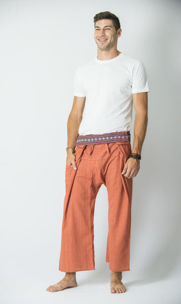 Cotton Thai Fisherman Yoga Massage Pants Orange