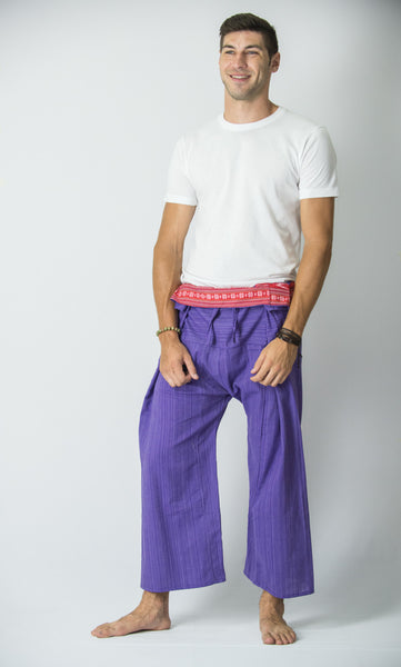 Cotton Thai Fisherman Yoga Massage Pants Purple