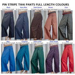 Wholesale set of 10 Pinstripe Thai Fisherman Pants