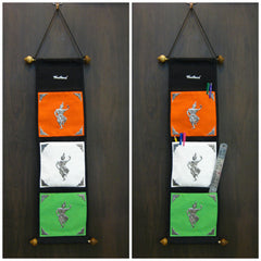 Beautiful Thai Fabric Wall Organizer Traditional Khon Dance Multi Color