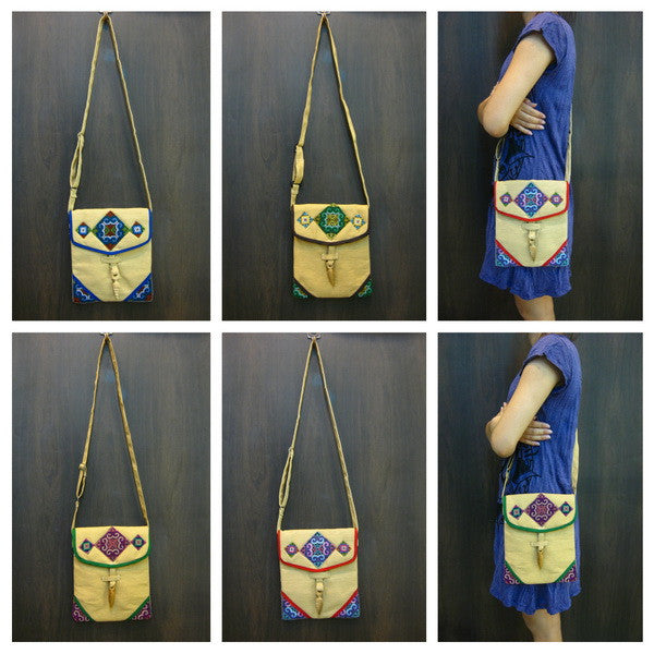 Wholesale set of 10 Thai HandMade Hill Tribe Bags