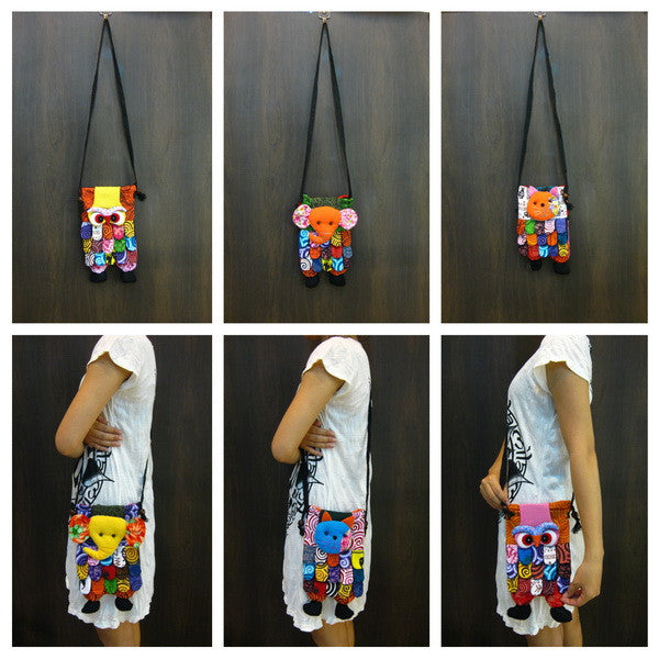 Wholesale set of 10 Thai HandMade Cute Animal Bags