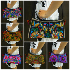 Wholesale set of 10 Thai HandMade Hmong Shoulder Bags
