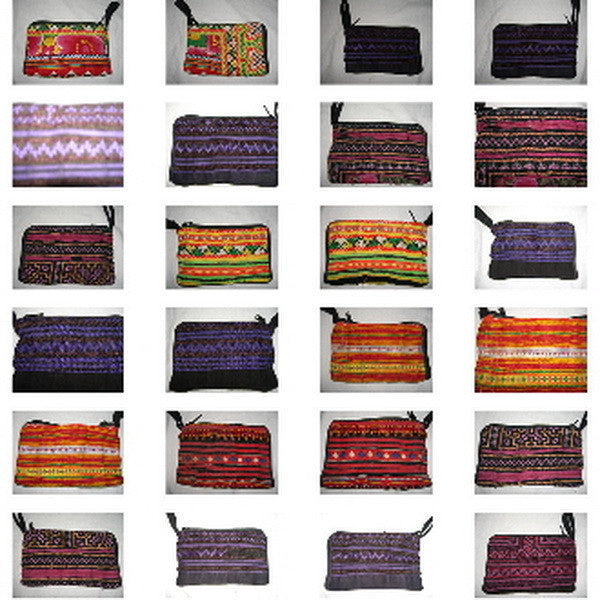 Wholesale set of 10 Thai Hmomg Fabric Coin Purses