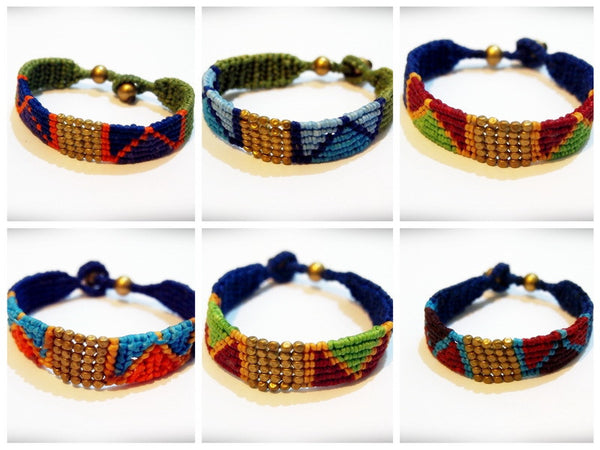 Wholesale set of 10 Thai Hill Tribe Tribal Bracelets