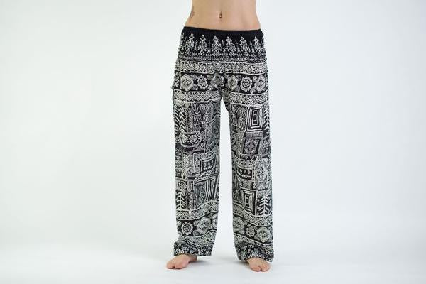 Tribal Prints Harem Pants in Black