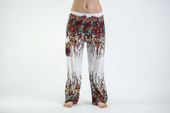 Floral Harem Pants in White