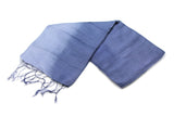 100% Fair Trade Thai Ribbon Style Scarf Shawl Navy