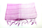 100% Fair Trade Thai Ribbon Style Scarf Shawl Purple
