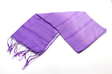 100% Fair Trade Thai Ribbon Style Scarf Shawl Grape