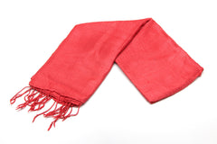 100% Fair Trade Thai Silk Solid Color Scarf Red