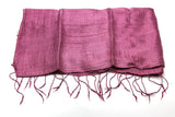 100% Fair Trade Thai Silk Solid Color Scarf Purple