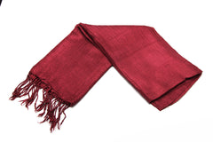 100% Fair Trade Thai Silk Solid Color Scarf Maroon