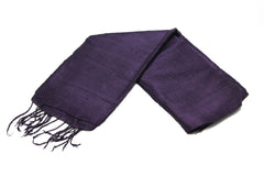 100% Fair Trade Thai Silk Solid Color Scarf Grape