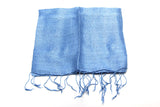 100% Fair Trade Thai Silk Solid Color Scarf Light Blue