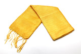 100% Fair Trade Thai Silk Solid Color Scarf Gold