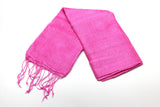 100% Fair Trade Thai Silk Solid Color Scarf Pink