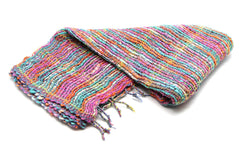 100% Organic Cotton Scarf Shawl From Thailand Multi