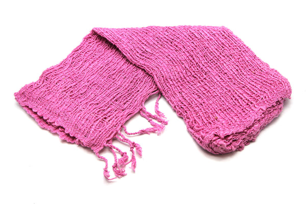 100% Organic Cotton Scarf Shawl From Thailand Pink