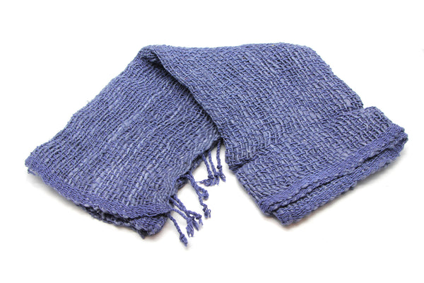 Fair Trade 100% Organic Cotton Scarf Indigo Blue