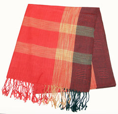 Fair Trade Hand Made Nepal Pashmina Scarf Shawl Maroon Red