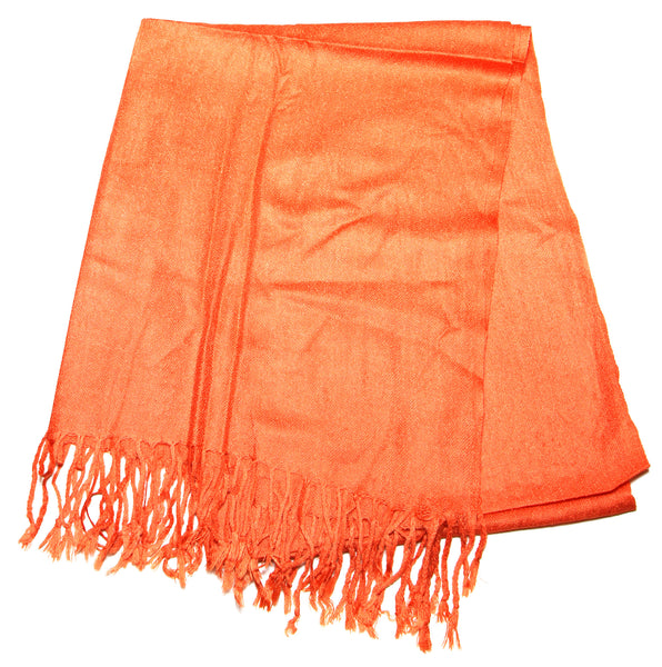 Fair Trade 70% Pashmina(Cashmere) 30% SILK Shawl Orange