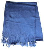 Fair Trade 70% Pashmina(Cashmere) 30% SILK Shawl Blue