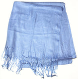 Fair Trade 70% Pashmina(Cashmere) 30% SILK Shawl Light Blue