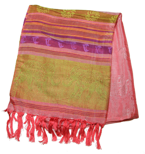 Beautiful hand made Nepal Pashmina Scarf Shawl Pink