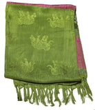 Beautiful hand made Nepal Pashmina Scarf Shawl Green