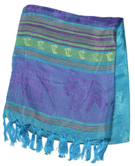 Beautiful hand made Nepal Pashmina Scarf Shawl Blue